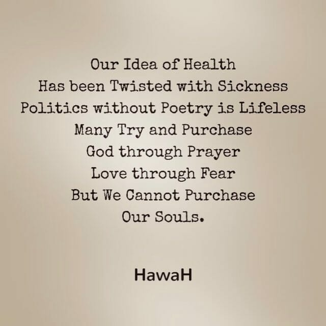 connect healthcare universalhealthcare poetry poet troublemaker change Compassion HawaH everlutionary