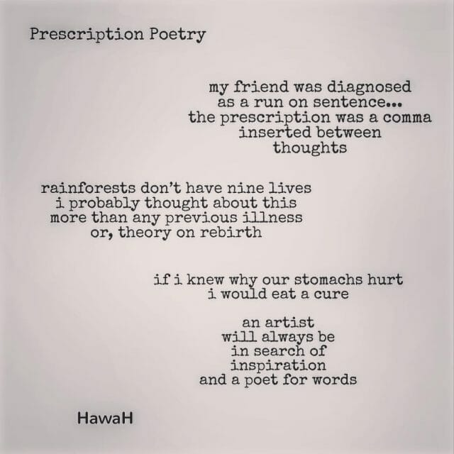 Prescription Poetry Did you take your fill of metaphors today?hellip
