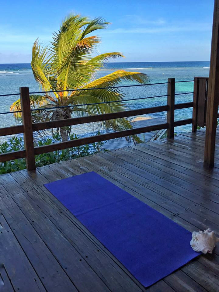 Yoga for one on Ospreys Nest