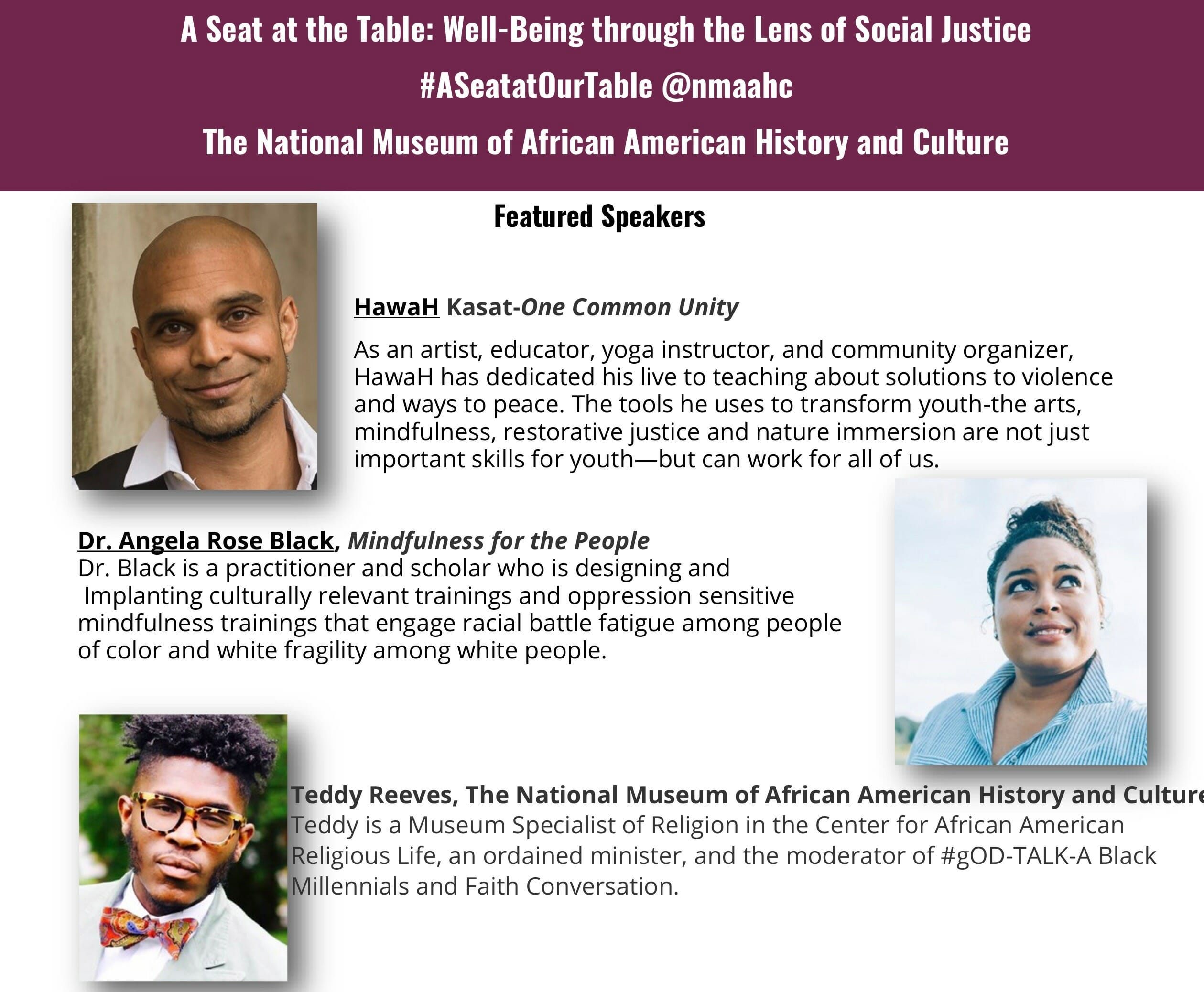 A Seat at the Table: Well-Being Through the Lens of Social Justice