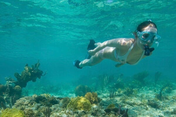 Snorkeling off South Water Caye 1